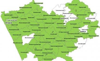 Карта Буринського Району Карта