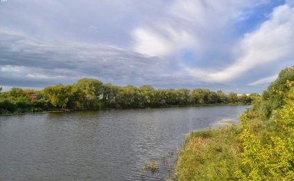 Река Иртыш в Омске Курганская